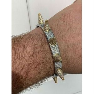 Harlembling Men Spike Bangle Bracelet